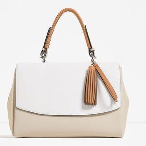 Zara Woman Contrast City Bag